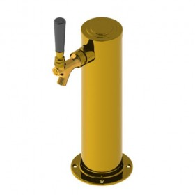 """3"""" Column with 1/4"""" Column Shank - 1 Faucet - Vibrant Gold Finish - Air cooled-C1174"""