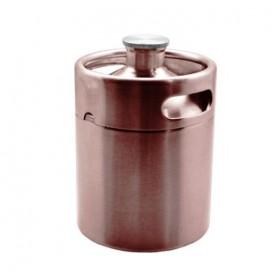 2 Litre Mini Keg-Brushed Copper-C2207-kromedispense