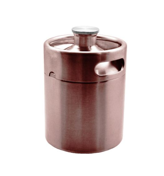 2 Litre Mini Keg-Brushed Copper-C2207-kromedispense
