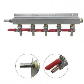 5 Way Gas Distributor Without PRV-c2429-kromedispense