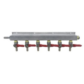 6 Way Gas Distributors without PRV-C2430- kromedispense