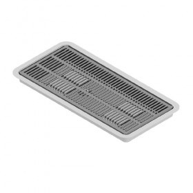 "C4007 - 16"" x 7"" Flush Mount Drip Tray - Brushed Stainless - With Drain - Krome"