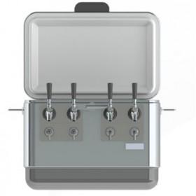 54Qt. Steel Belted Jockey Box Coil Cooler – 4 Faucets-C4107-kromedispense