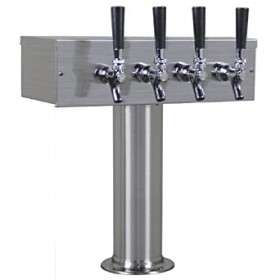 3″ T Tower – 4 Faucets – Brushed Stainless – Air Cooled-C1017