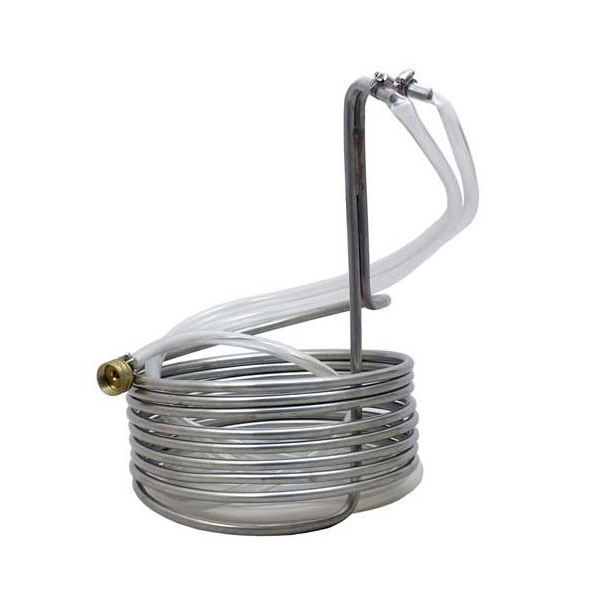 "25""Stainlesss Steel Wort Chiller With Garden Hose Fittings (Copy) C281-1 kromedispense"