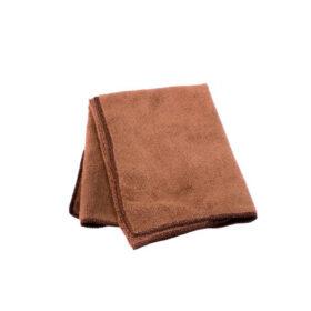 """16"""" x 16"""" Square Brown Microfiber Towel C3547 kromedispense"""