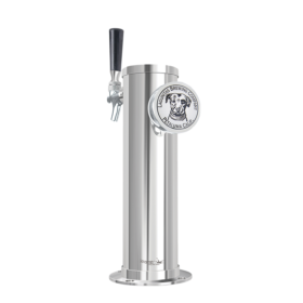 """3"""" Column Beer Illuminated Tower -1 Faucet - SS Polished - Air Cooled C553 kromedispense"""
