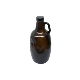Glass Beer Growler With Handle and Cap - 64 Oz C6510 kromedispense