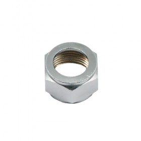 C181 Chrome Plated Brass Beer Hex Nut