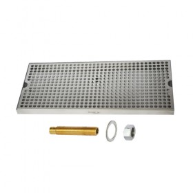 Surface Drip Tray - Brushed Stainless - With Drain