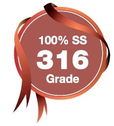 100% SS 316 Grade