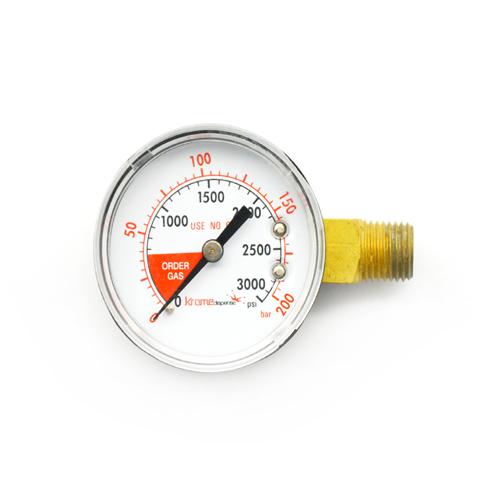 CO2 Regulator Replacement Gauge - Right Hand C001 kromedispense