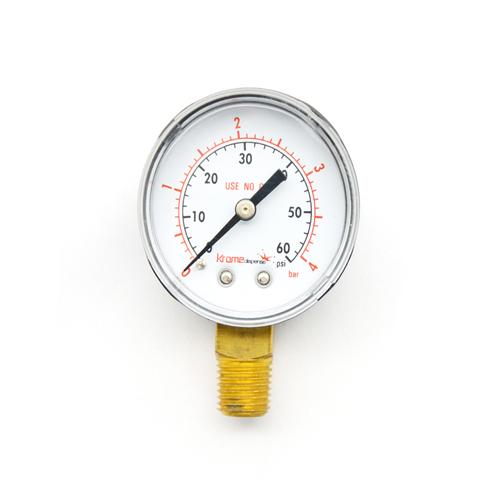 CO2 Regulator Replacement Gauge - Bottom C002 kromedispense
