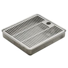"""8"""" x 7"""" Recessed / Over Counter Drip Tray - Brushed Stainless - Without Drain C064 Kromedispense"""