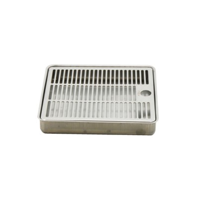 c064-8 x 7 Recessed Over Counter Drip Tray - Brushed Stainless - Without Drain-kROME