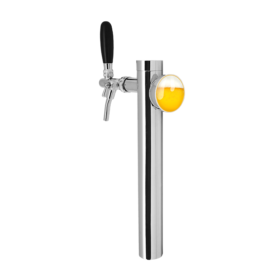 Anthina Slim Tower - 1 Faucet with Illumination - Chrome Plated - Glyco Recirculation Loop C1206 kromedispense