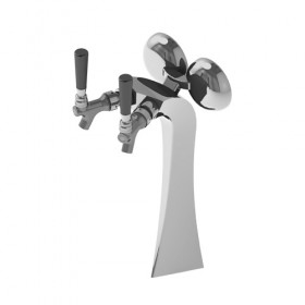 c1244 1 krome Superb Tower - 2 Faucet - Polished Chrome - Glycol Recirculation Loop