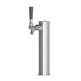 2.5″ Column Beer Tower – 1 Faucet with 1/4″ Column Shank SS Polished – Air Cooled-C1501