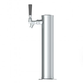 3″ Column Beer Tower – 1 Faucet – SS Polished – Air Cooled-C173