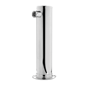 3″ Column Beer Tower – 1 Faucet – SS Polished – Glyco Cold Technology (Without Faucet) C1169 kromedispense