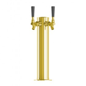 3″ Column Tower – 2 Faucet – Vibrant Gold Finish – Air Cooled-C176
