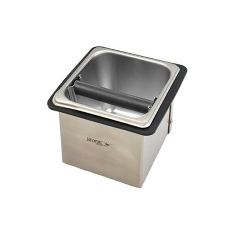 7.32″ Square Countertop Knock Box with Removable Bar C1881 Kromedispense