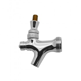 c211-Self Closing Faucet-Chrome Plated Brass With Brass Lever-Krome