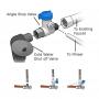 Angle Stop Valve 3/8″ Male x 3/8 Female – 3/8″ OD tube