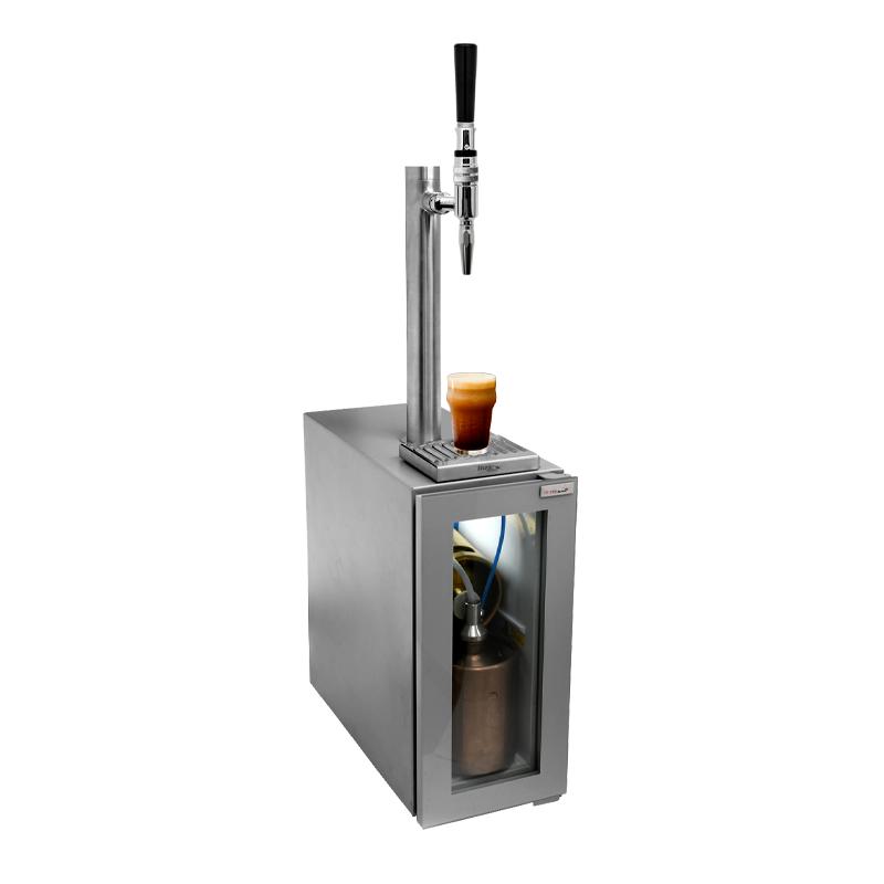 Junior Coffee Kegerator for 2 Liter Keg - Stout Tap -110V C2411 kromedispense