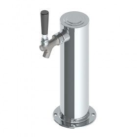 3″ Column Tower – 1 Faucet – 100% SS Polished – Air Cooled-C273