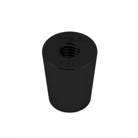 C3593 - Faucet Handle Ferrule - Black (Powder Coated) - Krome