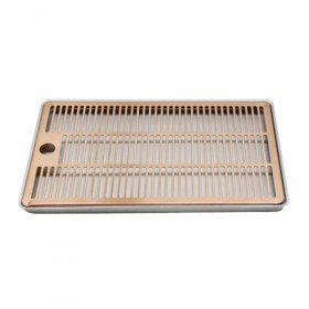 c4006-12″ x 7″ Aluminium Surface Drip Tray- Brushed Copper – Without Drain-KROME