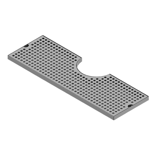 """14"""" x 8"""" Cut Out Surface Mount Drip Tray - Brushed Stainless - 4"""" Column C4014 kromedispense"""