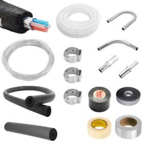 """C4109- Installation kit for 3/8"""" - Krome"""