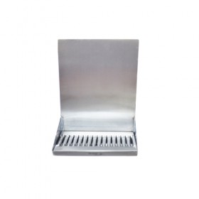 Shank Mounted Drip Tray - Brushed Stainless - With Drain - Without Faucet-KROME