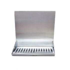 "C4160-16"" x 6"" x 14"" Shank Mounted Drip Tray - Brushed Stainless - With Drain - Without Faucet-KROME"