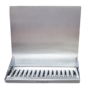 "16"" x 6"" x 14"" Shank Mounted Drip Tray - Brushed Stainless - With Drain - Without Faucet C4160 kromedispense"