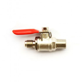 c449-MFL Nipple Gas Shut Off Valve With Return Check Valve-Krome