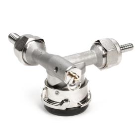 Low Profile D system Keg Coupler - 100% stainless Steel C4999 kromedispense