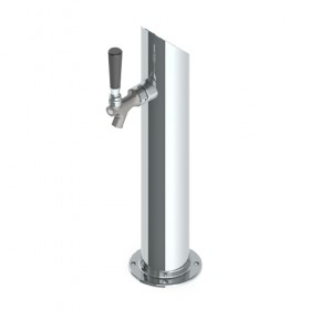 """3"""" Taper Cut Tower - 1 Faucet - SS Polished - Air Cooled-C512"""