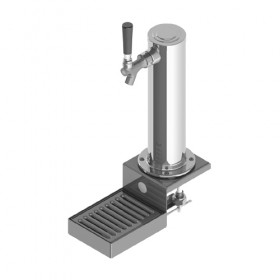 Clamp On Tower - 1 Faucet - SS Polished - Air Cooled-C513