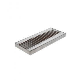 c606-12 x 5 Surface Drip Tray - Brushed Stainless - Without Drain-Krome