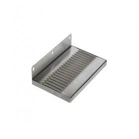 c609-Wall Mount Drip Tray - Brushed Stainless - Without Drain-Krome