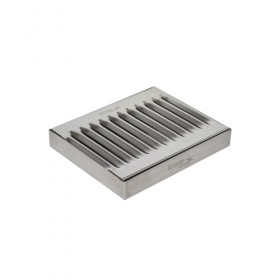 c611-6 x 5 Surface Drip Tray - Brushed Stainless - Without Drain-Krome