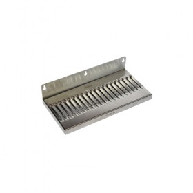c612-12 x 6 Wall Mount Drip Tray - Brushed Stainless - Without Drain-krome