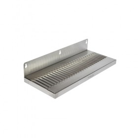 c619-14x6 Wall Mount Drip Tray - Brushed Stainless - Without Drain-Krome
