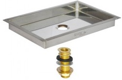 c622-9-x-6-Flanged-Mount-Drip-Tray-Brushed-Stainless-With-Brass-Drain-Krome-280x280