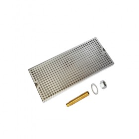 c625-18 x 8 Surface Drip Tray - Brushed Stainless - With Drain-Krome