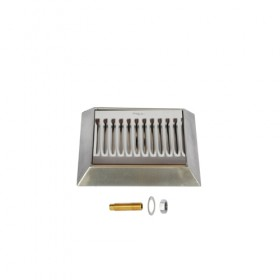 c628-9 x 6-12 Beveled Edge Drip Tray - Brushed Stainless - With Drain-Krome