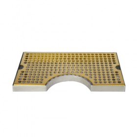 c633-Cut Out Surface Mount Drip Tray - Vibrant Gold Finish - Without Drain-krome